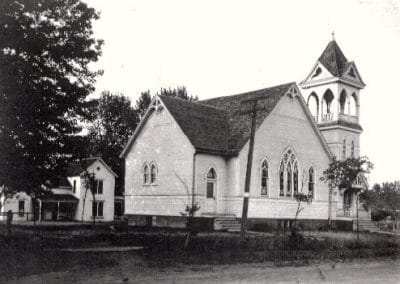 Historic Methodist church in Sadorus, Illinois