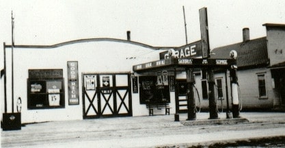 Historic service station, Sadorus, Illinois