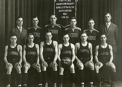 Historic image of Basketball Champions in Sadorus, Illinois