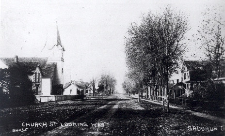Historic Church Street, Sadorus, Illinois