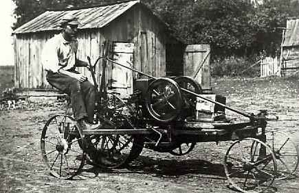 Historic photo of Matilda the Tractor in 1916