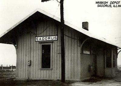 Sadorus Wabash Depot in 1955, Sadorus, Illinois